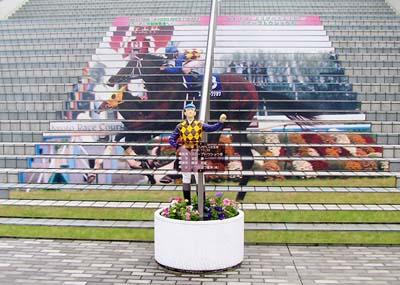 京都競馬場階段